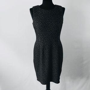 Calvin Klein Gray Sleeveless Career Sheath Dress
